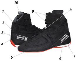 Dragster racing boots technical data